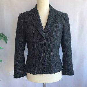 Ann Taylor Tweed Blazer Cropped Jacket Size 4